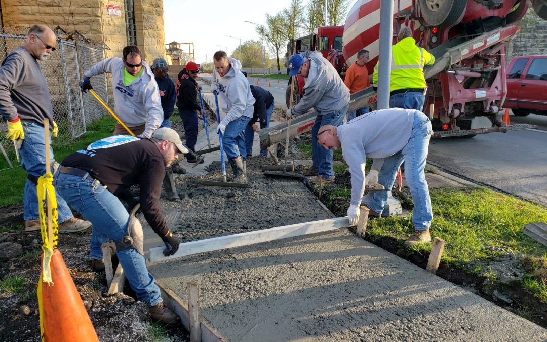 Three Rivers Construction Alliance Comes Together to Install ADA Accessible Sidewalk